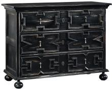 Chest FURNITURE CLASSICS Jacobean Renaissance Graphic Applied Moldings Di FC-659