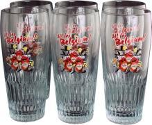2002 World Cup Commemorative Set 6 Beer Glasses Jupiler