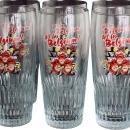 2002 World Cup Commemorative Set 6 Beer Glasses Jupiler