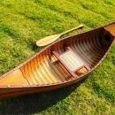Canoe Reproduction With Ribs 6-Ft Wooden Western Red Cedar Canadian glass  OM-99