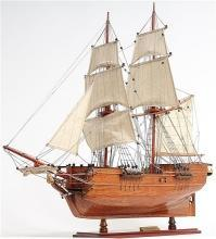 Model Ship Lady Washington Boats Sailing Wood Base Wooden Western Red Ced OM-235