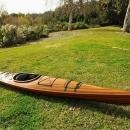 Kayak 15-Ft Clear Marine Vanish Varnish Western Red Cedar Epoxy Resin Stri OM-86