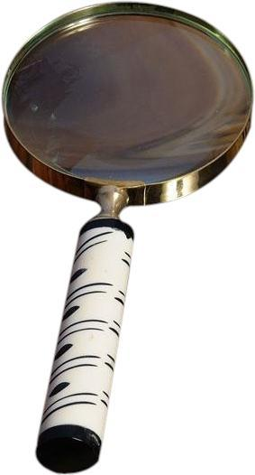 Magnifying Glass 4-Inch Wood Box New OM-151