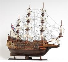 Model Ship Sovereign of the Seas Boats Sailing Wood Base Wooden Metal Wes OM-213