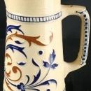 1930 French Pitcher, Vintage Kitchenware, White/Cream Ceramic Fleur-de-Lis
