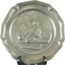 Plate Decorative Pewter 1950 12-392-0