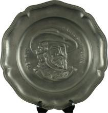 Plate Decorative Peter Paul Rubens Pewter 1950 12-35-0