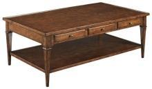 New Cocktail Table  Bordeaux Finish Cherry Rectangle Marseill WB-611