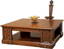 Coffee Table DAVID MICHAEL Rustic Antique Distressed Solid Walnut New DM-529