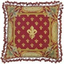 New Aubusson Throw Pillow Handwoven 22