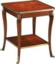 Side Table DAVID MICHAEL CLAIRE JAMES Solid Mahogany Brass Ormolu New DM-440