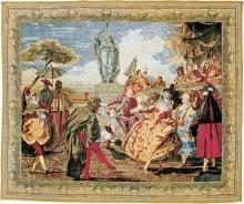 Tapestry DAVID MICHAEL TAPESTRIES Masquerade 69x89 Cotton Viscose Wool L DM-1514