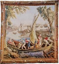 Tapestry DAVID MICHAEL TAPESTRIES Embarkation 87x94 Cotton Viscose Wool  DM-1471