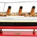 Model Ship Titanic Boats Sailing Large Painted Wood Base Western Red Cedar OM-61