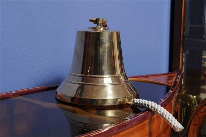 Ship Bell Bulkhead Mount Bracket 10-Inch Golden Gold Brass New OM-153