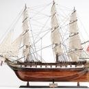 Model Ship USS Constellation Wood Base Wooden Western Red Cedar Linen New OM-226