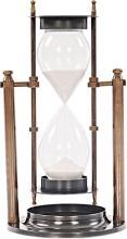 Sand Timer Brass Two-Tone Antique 2-Tone Metal Base New OM-344