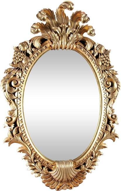 Wall Mirror French Rococo Gold Leaf Solid Wood Fitted Beveled New Hand-Ca NG-198