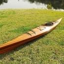 Kayak 15-Ft Clear Marine Vanish Varnish Western Red Cedar Epoxy Resin Stri OM-86