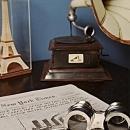 Binoculars Brass Leather New With Storage Box OM-320
