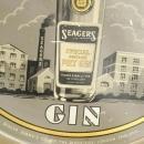 Tray Seagers Gin Barware Advertising Tin Metal 1960 6-693-0