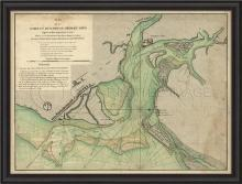 Artwork Early Map of Charles Town BCBL New SC-727