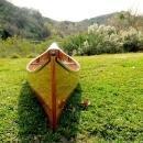 Canoe With Ribs 16-Ft Clear Marine Vanish Varnish Western Red Cedar Strips OM-97