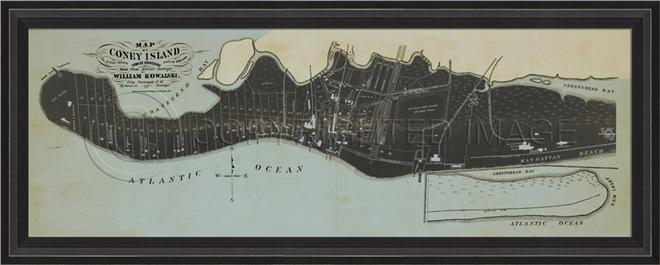 Artwork Coney Island Map BCBL New SC-739