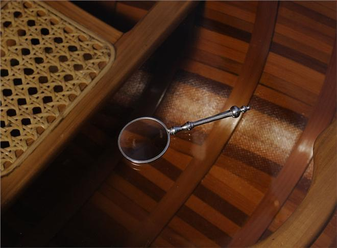Magnifying Glass 2-Inch Wood Box New OM-149