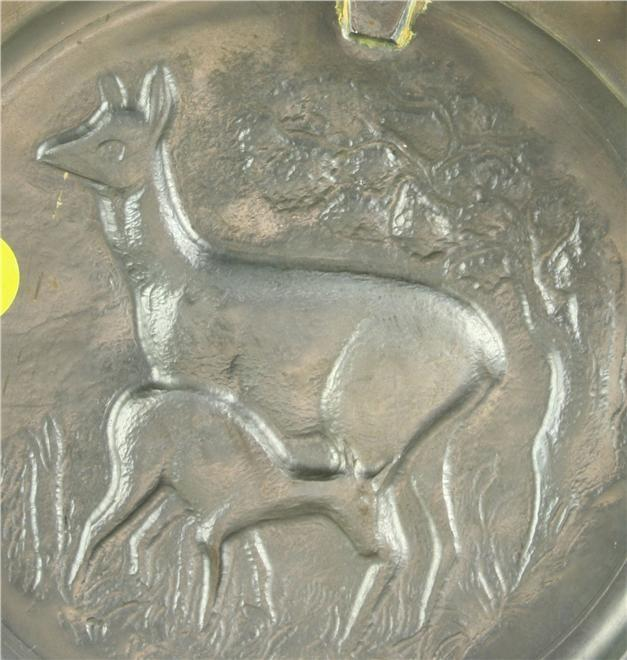 Plate Angel Stamp Decorative Pewter 1950