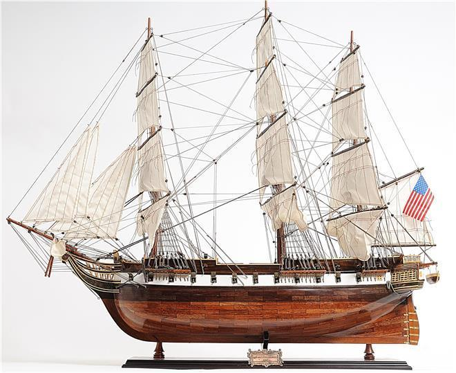 Model Ship USS Constellation Wooden Western