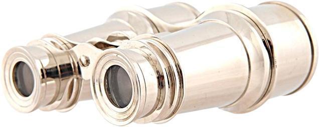 Binoculars Leather Brass New With Storage