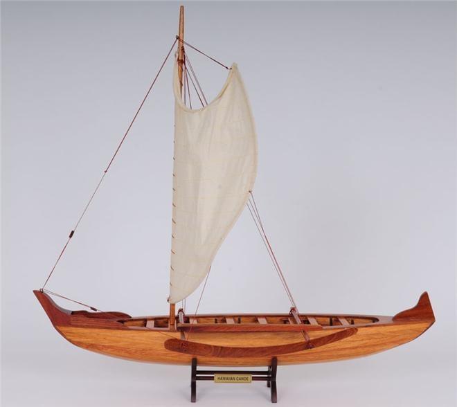 Model Canoe Hawaiian Wood Cedar New