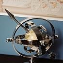 Armillary Sphere Shiny Nickel Aluminum New