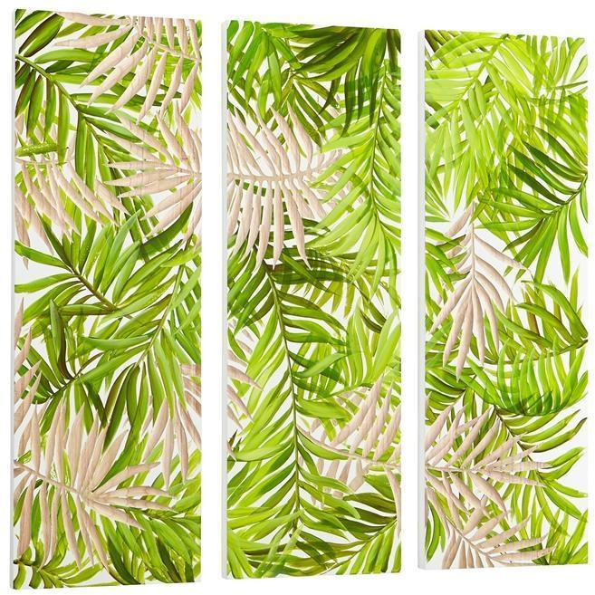 Wall Art CYAN DESIGN Amazon Green White Wood