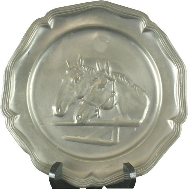 Plate Decorative Pewter 1950 12-392-