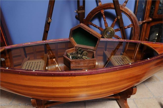 New Medium Sextant Nautical Wood Box O