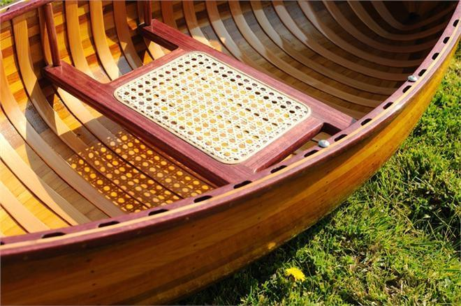 Canoe With Ribs 6-Ft Wooden Western Red