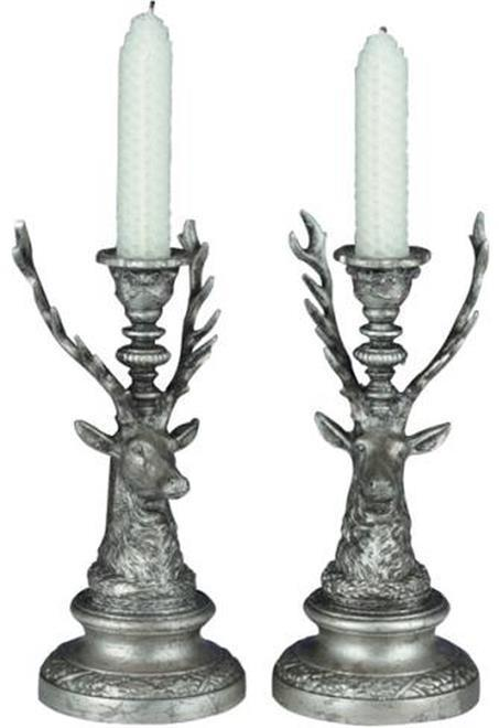 Candle Holder Candlestick MOUNTAIN Rustic