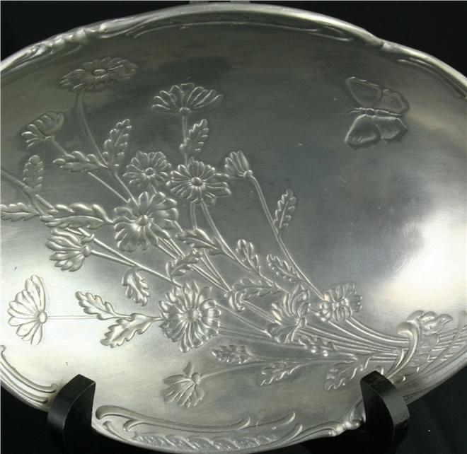 Vintage French Pewter Candy Bowl Dish
