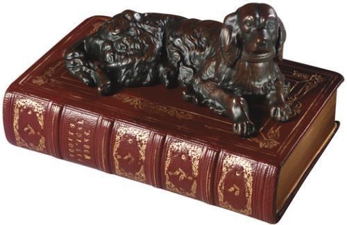 Sculpture Statue Resting Setter Dog Cast