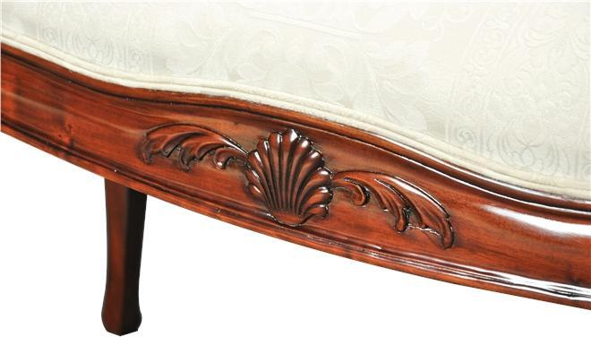 Window Bench French Sweeping Arms Oversize