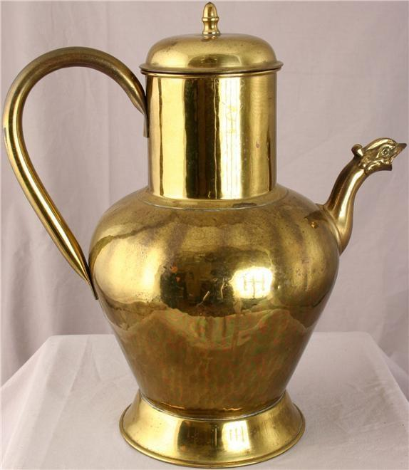 Pitcher Metalware Dragon Spout Brass Metal