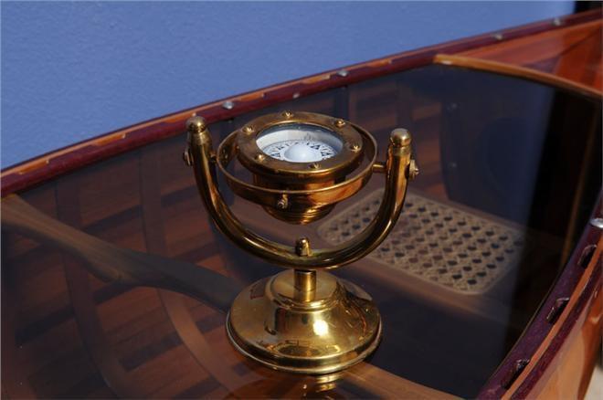 Compass GIMBALED Nautical Golden Glow Shiny