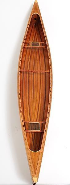 Model Boats Sailing Canadian Canoe Rattan