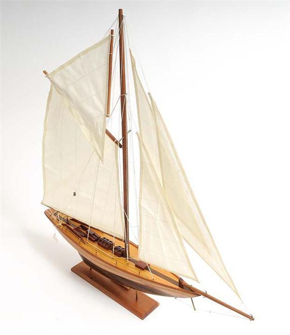 Model Sailboat Pen Duick Boat Solid Wood