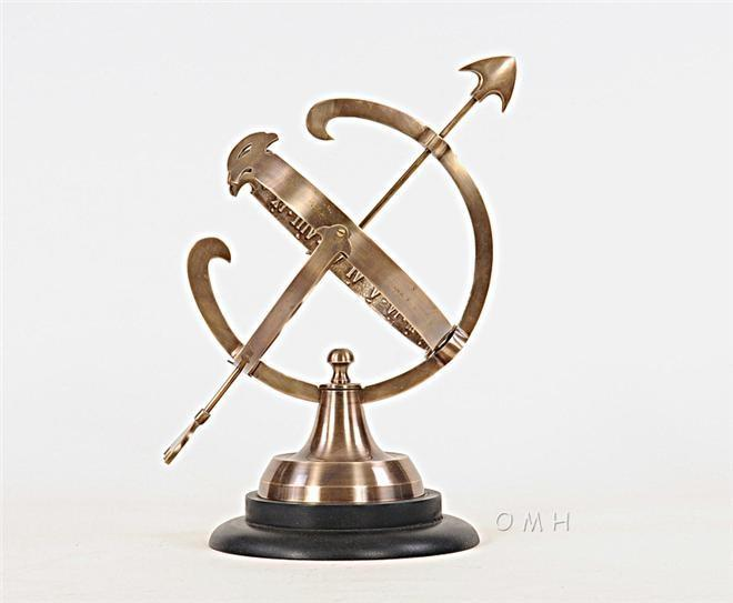 Armillary Sphere Two-Tone Antique Dark