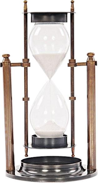 Sand Timer Brass Two-Tone Antique 2-Tone