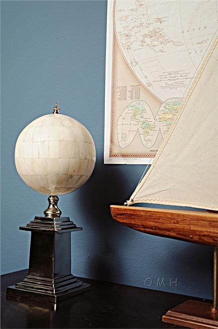 Globe Pleated Brass Silver Shiny Nickel