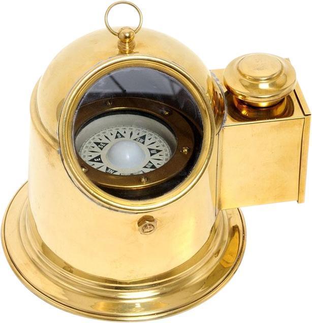 Compass BINNACLE YEW Nautical Golden Glow